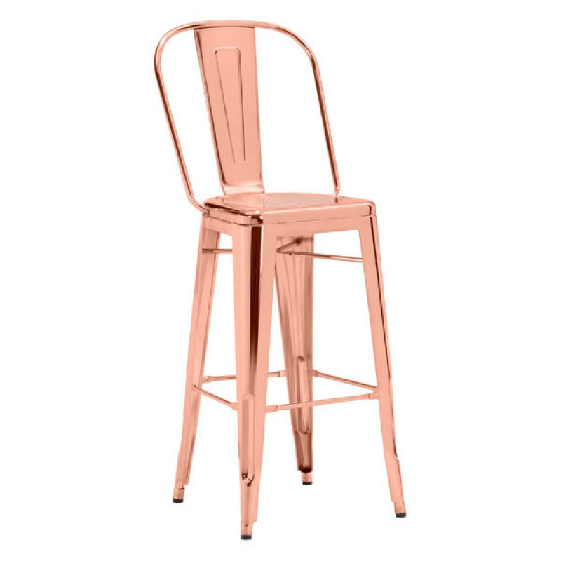 MOVALIA -https://movalia.mx/ELIO BAR CHAIR (ROSE GOLD)->name